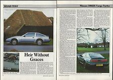 1988 NISSAN 300ZX Road Test article, Nissan 300 ZX Targa Turbo, from British mag