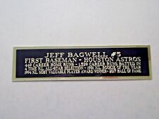 Jeff Bagwell Houston Astros Nameplate For A Baseball Bat Or Jersey Case 1.5 X 6