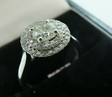 18 Ct Ladies White Gold Halo Diamond Ring