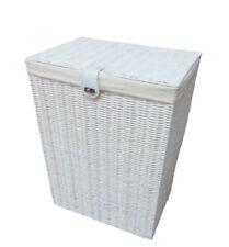 Cesta De Ropa Caja mediana de resina blanca con tapa de cierre por Arpan