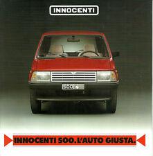 Depliant Brochure Innocenti 500 1988 Italiano ORIGINALE
