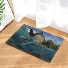 """Spinosaurus Dragon and Saw Shark Bathroom Rug Non-Slip Floor Door Mat 16x24"""""""