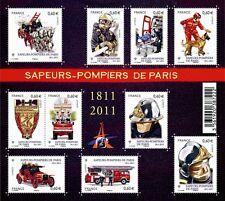 FRANCE 2011...Miniature Sheet n° F4582 MNH...Fire Brigade of Paris