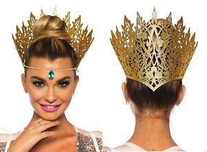 Leg Avenue Halloween Glitter Die Cut Jewelled Crown Evil Queen Fancy Dress