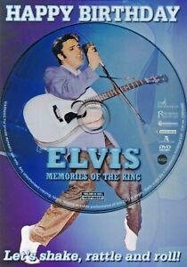 Elvis Presley - Rock n Roll - Themed Happy Birthday Card & DVD Documentary Film