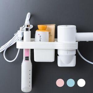 Hair Dryer Storage Rack Holder Hair Styling Tool Organize Wall Mounted Bathroom