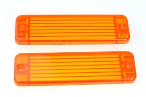 PAIR of NEW Amber Orange Indicator light lamp lenses for ARB Bullbars 135 x 38mm