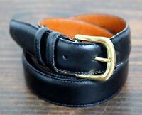 Nordstrom Sienna BLACK GENUINE LEATHER CASUAL DRESS MEN'S BELT Sz 34/85 (E67)