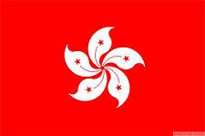 "HONG KONG RED NEW mini flag 9"" x 6"" 22cm x 15cm flags"