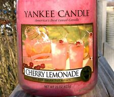 "Yankee Candle ""CHERRY LEMONADE""~ Fruit Scented ~ Large 22 oz. ~ WHITE LABEL~ NEW"