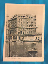 Napoli Italy  Hotel Excelsior Postcard Vintage Antique Row Boats  Rizzoli