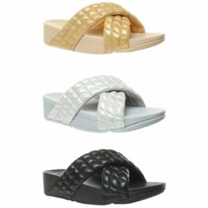 FitFlop Womens Lulu Padded Shimmy Slide Sandals
