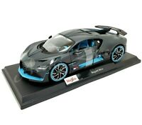 Maisto 1:18 2020 Special Edition Diecast - Flat Black & Blue Bugatti Divo VHTF