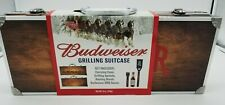 Budweiser Clydesdales Grilling Suitcase 5-Piece Wooden Tools BBQ Gift Set