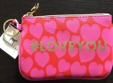 Cute Dabney Lee #LOVEYOU Pouch with key ring NWT