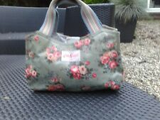 Green Cath Kidston Floral Oil Cloth Tote Bag S/M