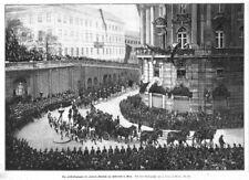 Sisi, Sissi, Elisabeth, Kaiserin. Leichenzug in Wien Original-Holzstich 1898