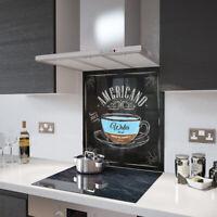 Glass Splashbacks Americano Coffee Glass and Accessories - Made By Premier Range