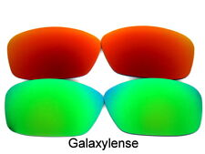 Galaxy Replacement Lenses For Oakley Ten-X Sunglasses Green&Red Polarized