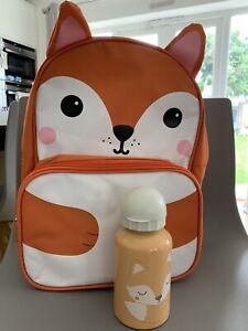 Sass And Belle Fox Backpack For Children NEW Rucksack Kids + FREE WATER BOTTLE