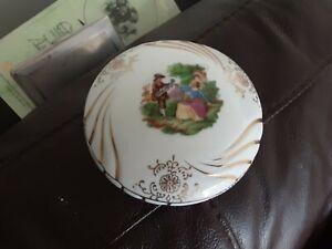 Vintage Round Porcelain Trinket Dish Foreign Irene Series 10 cm diameter