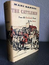 1st/1st The Cattlemen signed by Mari Sandoz hardcover book w/ dust jacket 1958
