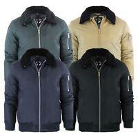 Brave Soul Greenfield Mens Aviator Jacket Borge Collar MA1 Coat