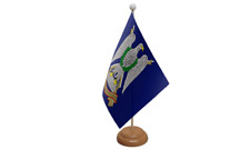 Royal Scots Dragoon Guards Military Table Flag with Wooden Stand