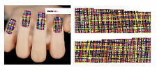 Nail Art de transferencia de agua Pegatina Adhesivos Multi Patrón entrelazados calcomanías (DX1546)
