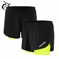 Men's Running Shorts Training Jogging Cycling Sports Shorts with Longer Liner