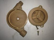 vintage old industrial Brass Elbow Internal Pulley  Nautical Boat Fixture
