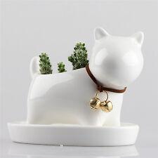 Little Dog Ceramic Succulent Plant Flower Pot Garden Porcelain Groceries Planter