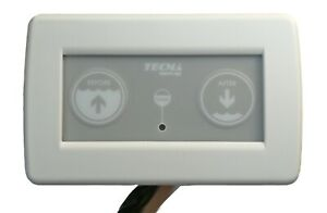 TECMA marine toilet '2 switch' control panel dual 12v or 24v 19-50124