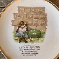RARE Vintage Original 1915 WATERMELON BOY Calendar PLATE St Albans Vermont