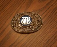 Vintage Belt Buckle New Mexico Transportation bus company Logo NMT