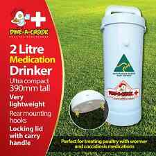 Dine a Chook 2 Litre Medication Chicken Drinker / Feeders Available / Poultry