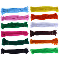 EG_ 100Pcs Chenille Pipe Cleaners Twist Rods Kids DIY Craft Educational Toy Reli