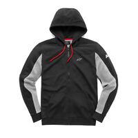 Alpinestars Venom Fleece Blac- Zip Fleece with Hoody/Hoodie - Men Casual wear