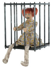 Creepy Screaming ANIMATED CAGED KID WALK AROUND Halloween Costume Prop Accessory