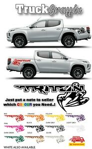 Mitsubishi CLAW Pick up DECAL 4x4 VEHICLE GRAPHICS DECALS STICKERS x2