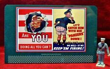WWII DIG FOR VICTORY  /_/_ #122J TINPLATE BILLBOARD  O//S SCALE