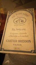 CARTIER-BREESON PARIS 'FIL D'IRLANDE'  VINTAGE BOX OF 10 CROCHET YARNS