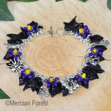 The Dark Mori Gothic Charm Bracelet - Goth Jewellery, Belladonna, Nightshade