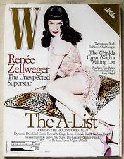 RENEE ZELLWEGER COVER W Magazine February 2005 Fashion Feature! Great Retro!