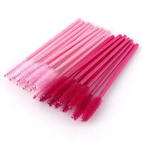 50Pcs Disposable Mascara Wands Makeup Brush Eyelash Brushes Spoolies Applicator