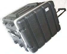 "Rack, Wheels & Pull Handle Case 7- 8U Space Light Weight 16.5"" Deep Shell screws"