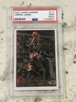 Lebron James 2003-04 Topps Chrome #111 Rookie RC PSA 9 Freshly Graded 🔥 🔥