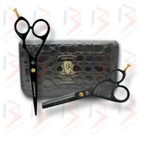 Black Professional Barber Hair Cutting Thinning Scissors Shears Set Hairdressing