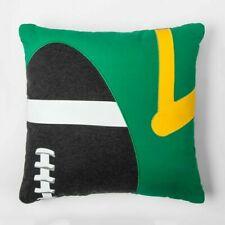 "Football Throw Pillow 16"" x 16""  Kids Room Decor Pillowfort - Free Shipping"