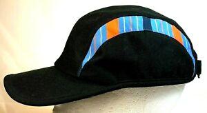 FILA SPORT Women's Black w/ Stripes One Size Hook Loop adjustable Golf Hats Cap